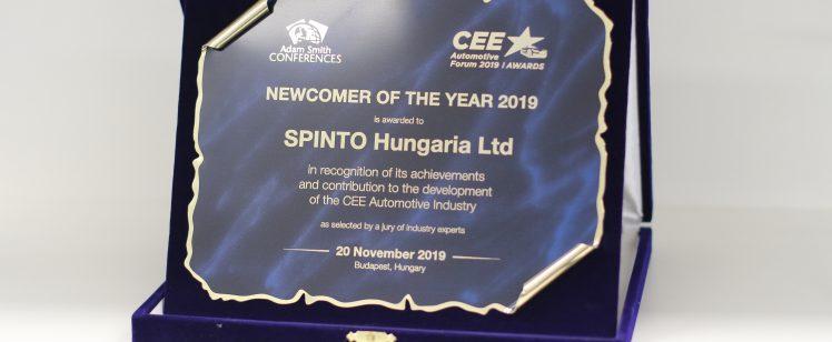 A Spinto Hungária Kft. hivatalosan is az év autóipari belépője, felfedezettje